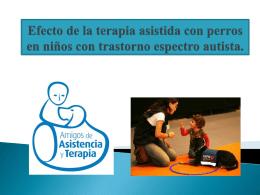 Efecto de la terapia asistida con perros en el comportamiento de