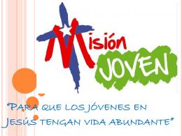 Diapositiva Misión Joven