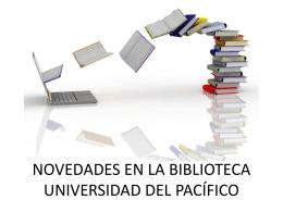 Nuevos recursos de la biblioteca - Campus Virtual