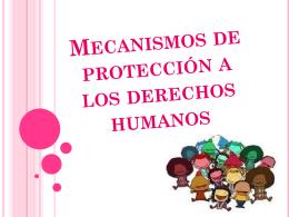 Mecanismos de protección a los derechos humanos