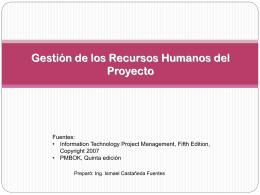 Gestión de Recursos Humanos - Departamento de Ingeniería de