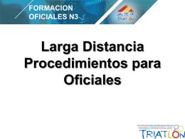 Larga Distancia – Procedimientos para Oficiales