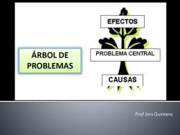 El árbol de problemas - uptm pnf