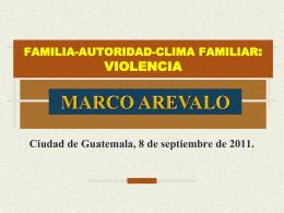 FAMILIA Autoridad, violencia y clima familiar