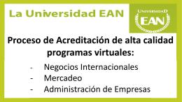 Acreditación de alta calidad programas virtuales: