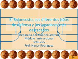 El Baloncesto, sus diferentes tipos de defensa y