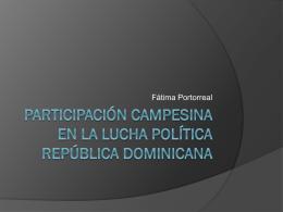 Participación campesina en la lucha política