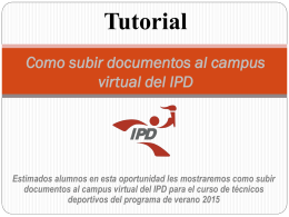 Tutorial Como subir documentos al campus virtual del IPD