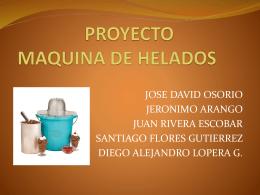 PROYECTO MAQUINA DE HELADOS