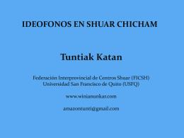 Presentación Shuar