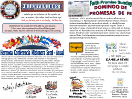 August 18 2013 Bulletin - Iglesia Bautista Puerta La Hermosa
