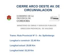 Presentación - Gobierno de la Provincia de Córdoba
