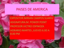 PAISES DE AMERICA.