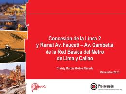 Concesión de la Línea 2 y Ramal Av. Faucett