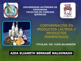 contaminación en la leche, productos lácteos y productos fermentados