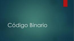 Codigo Binario - Ing. Oscar Portobanco
