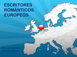ESCRITORES ROMÁNTICOS EUROPEOS