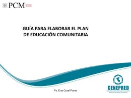 guía para elaborar el plan de educación comunitaria