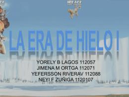 LA ERA DE HIELO