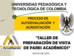 """""""TALLER DE PREPARACION DE VISITA DE PARES ACADEMICOS*"""