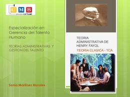 Especialización en Gerencia del Talento Humano TEORIAS