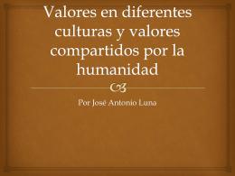 Valores en diferentes culturas y valores
