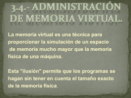 Administración de memoria virtual