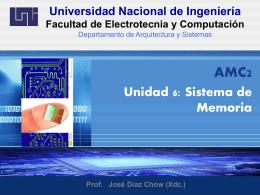 Unidad 6 - Sistema de Memoria
