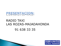 RTRM.PRESENTACION - Radio Taxi Las Rozas