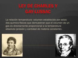 Ley de Charles y Gay