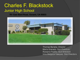 Charles F. Blackstock Junior High School