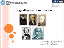 Biografías de la evolución