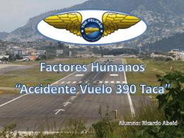 vuelo 390 TACA - InvestigacionGrado