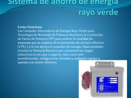 Sistema de ahorro de energía rayo verde