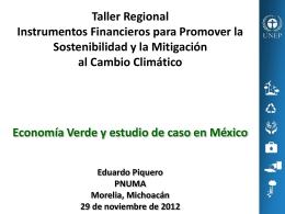 Economía Verde y estudio de caso en México