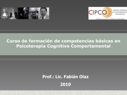 Características - Centro Integral de Psicoterapias Cognitivas (CIPCO)