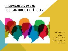 COMPARAR SIN PARAR LOS PARTIDOS POLÍTICOS