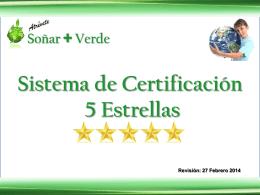Sistema de Certificacion 5 Estrellas (Rev. 2014-02