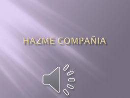 HAZME COMPAÑIA - WordPress.com