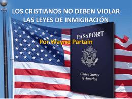 los cristianos no deben violar las leyes de
