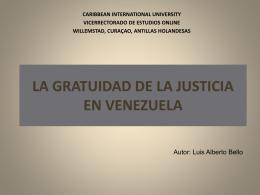 LA GRATUIDAD DE LA JUSTICIA EN VENEZUELA