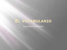 El vocabulario