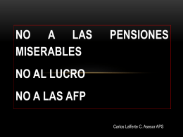 No a las pensiones miserables