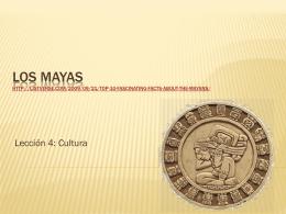 Datos interesantes sobre los mayas