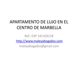 apartamento de lujo en el centro de marbella