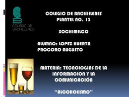 Beber es el eje del día del alcohólico. - TIC3-301