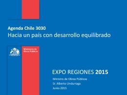 15-06-15 Agenda 3030 Exporegiones Ministro de obras publicas
