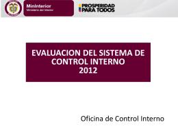 Evaluación SCI 2012 - Ministerio del Interior
