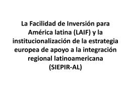 La Facilidad de Inversión para América latina (LAIF) y la