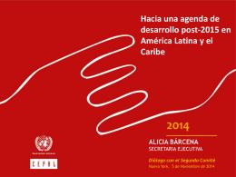 Hacia una agenda de desarrollo post